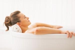 Entspannendes Bad in der Massagepraxis im Landhaus Cornelia in Bad Birnbach