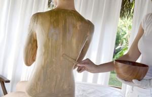Algenentschlackungspackung in der Massagepraxis im Landhaus Cornelia in Bad Birnbach
