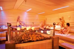 Kristallsauna in der Saunawelt im Vitarium der Rottal Terme.